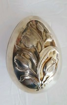 Vintage Wallace Annual Silver Plate Tulip Egg Box 1978 USA - $31.11