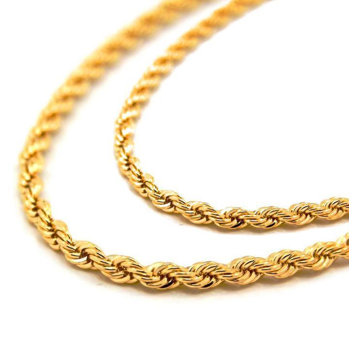 22432ed19607c Mens 6MM Yellow Gold Dookie Rope Chain and 50 similar items