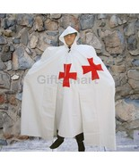 MEDIEVAL KNIGHT CRUSADER TEMPLAR Natural White Wool Blend CAPE CLOAK New - $162.99