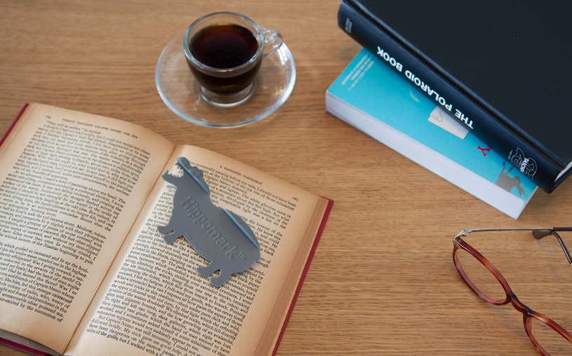 Book Bookmark Funky Design HIPPO swims pages Animel NEW elegantly Love Gifts