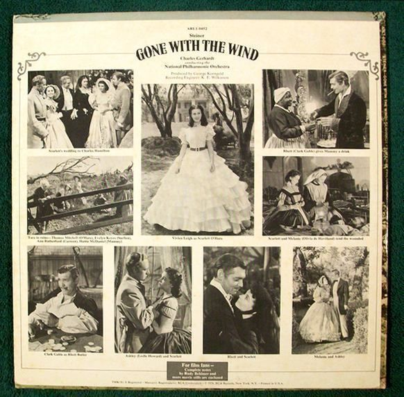 GONE WITH THE WIND   ~   1974 Classic Film Score LP