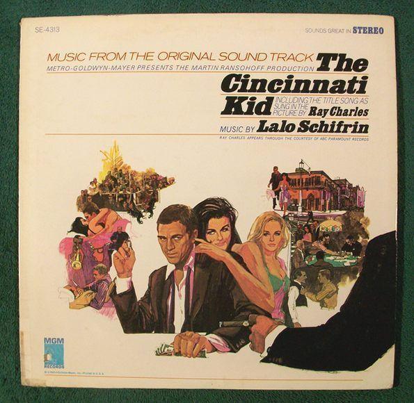 THE CINCINNATI KID   ~   1965 Original Soundtrack LP     Steve McQueen