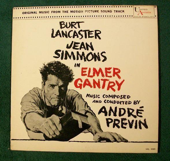 ELMER GANTRY   ~   1960 Motion Picture Soundtrack LP     Burt Lancaster