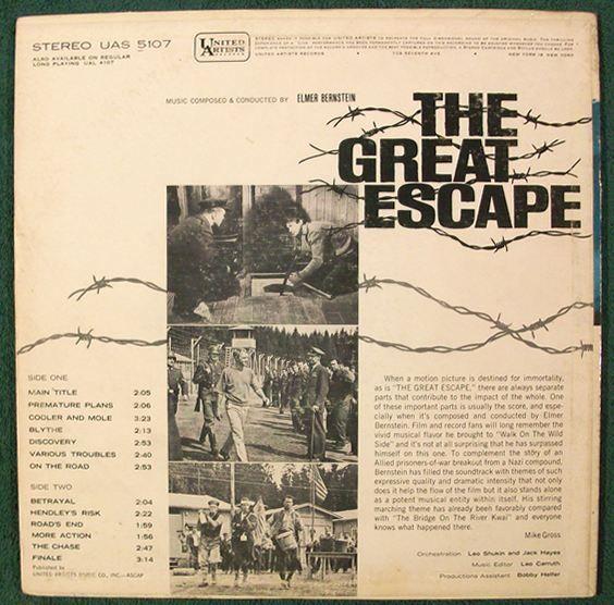 THE GREAT ESCAPE   ~   1963 Original Motion Picture Score LP