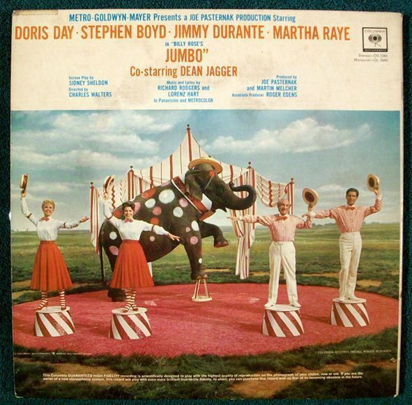 JUMBO   ~   1962 Original Soundtrack Recording LP       Rodgers and Hart