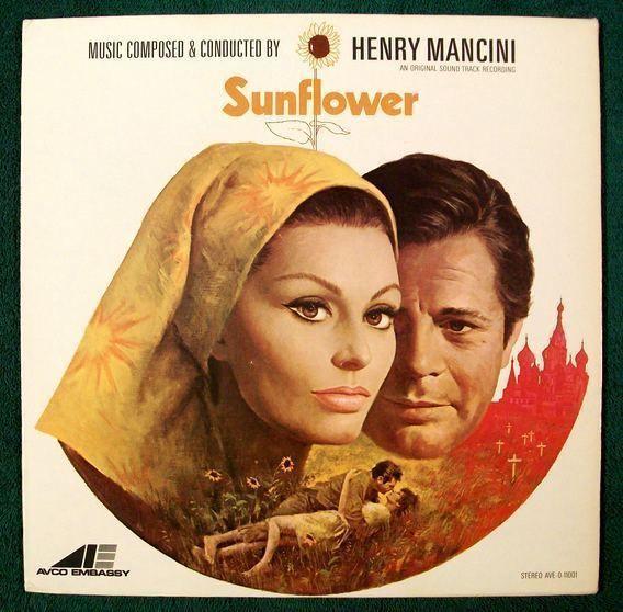 SUNFLOWER  ~  1960 Original Soundtrack Recording LP     Sphia Loren / Mastroiani