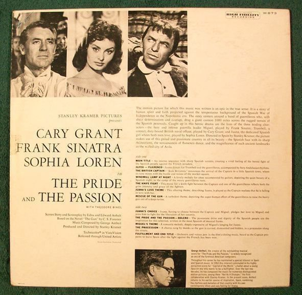 THE PRIDE AND THE PASSION   ~   1957 Movie Soundtrack LP