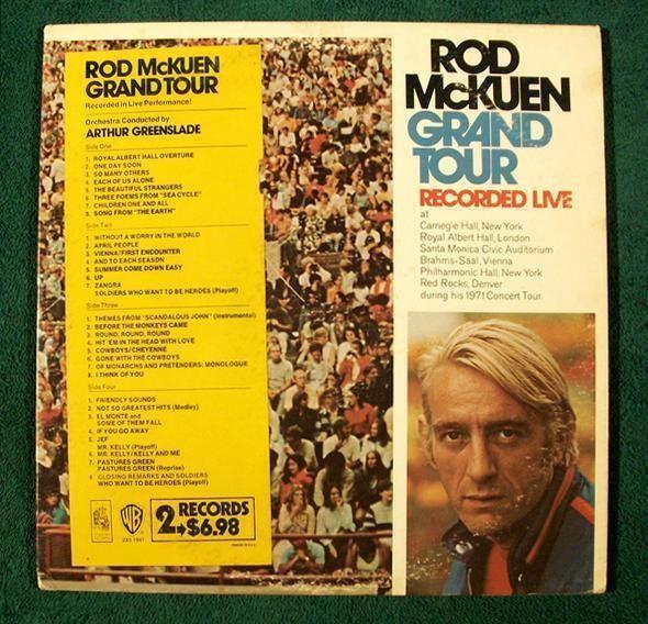 ROD McKUEN   ~   Rod McKuen Grand Tour       1971 DOUBLE Live Album LP