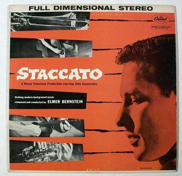 STACCATO   ~   1959  Revue Television Soundtrack LP       John Cassavetes