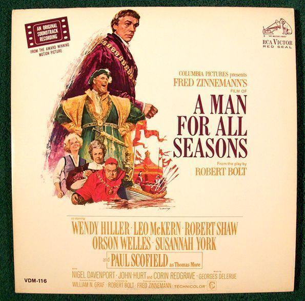 A MAN FOR ALL SEASONS  ~   1966 Original Soundtrack Recording DOUBLE LP