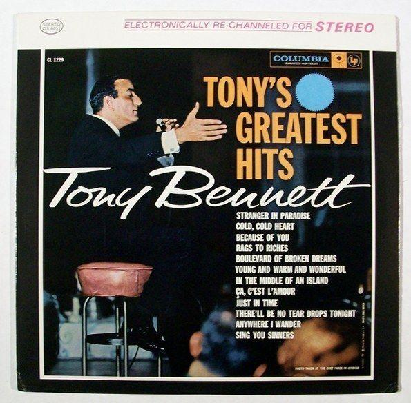 TONY BENNETT  ~  Tony's Greatest Hits        1962 Pop LP / Near Mint