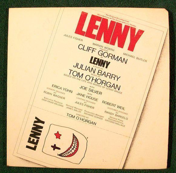 LENNY   ~   1971 Original Broadway Cast LP  /  DOUBLE ALBUM       Cliff Gorman