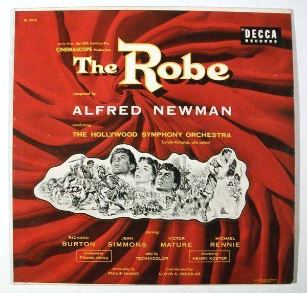 THE ROBE   ~   1953 Movie Soundtrack LP     Richard Burton / Jean Simmons