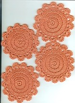 4 Hand Crocheted-Coaster/ Doily-Candle Mat -Cotton - - $5.00