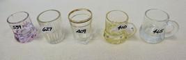 VINTAGE GLASS DEMITASSE AND SINGLE SHOTS COLLEC... - $13.10