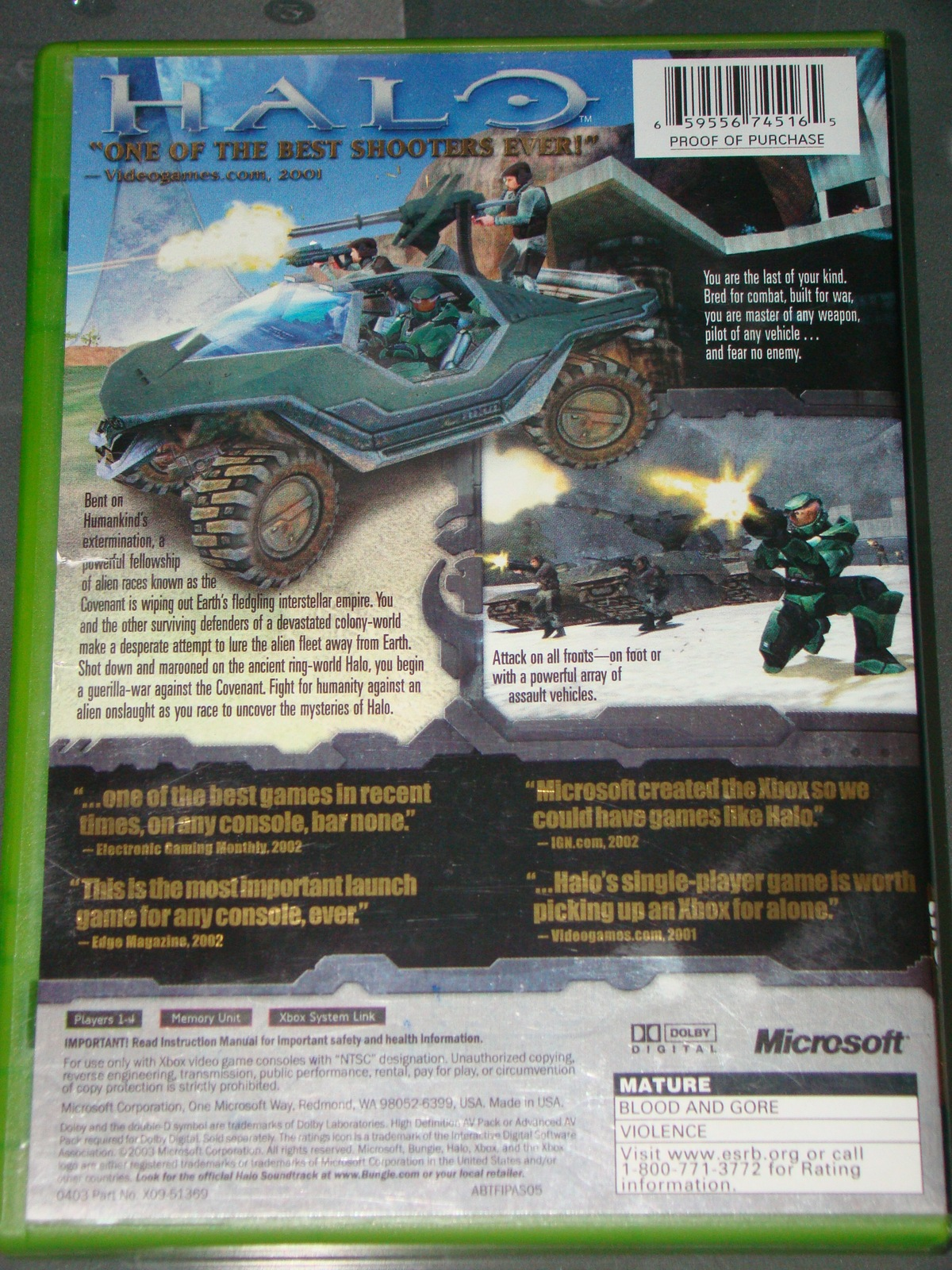 XBOX - HALO COMBAT EVOLVED (Complete with Instructions)