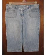 Womens New York & Company Blue Denim Capri Jeans new YSize 4 - $15.99