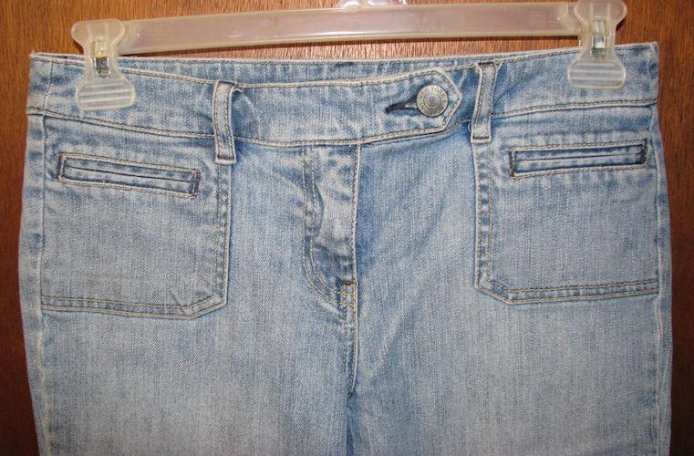 Womens New York & Company Blue Denim Capri Jeans new YSize 4