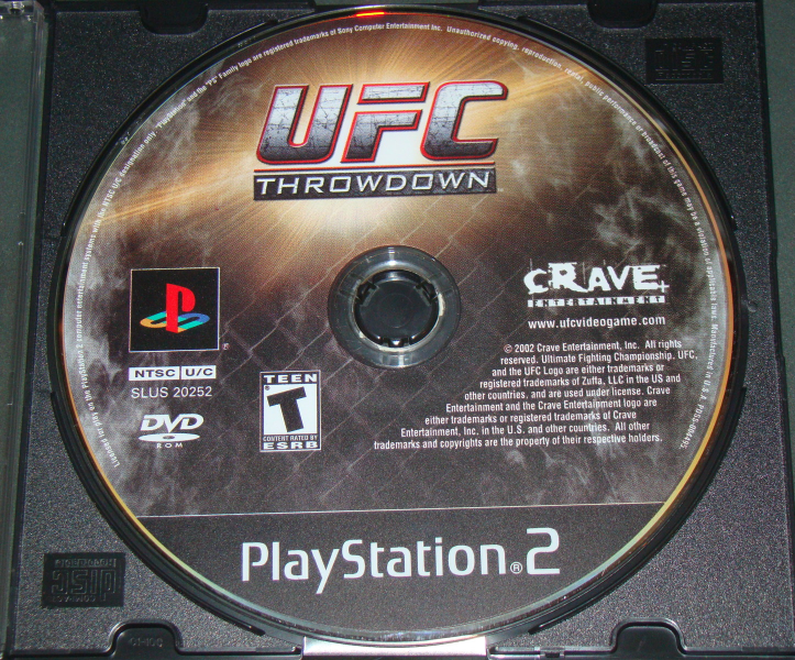 Playstation 2 - UFC THROW DOWN (Game Only)