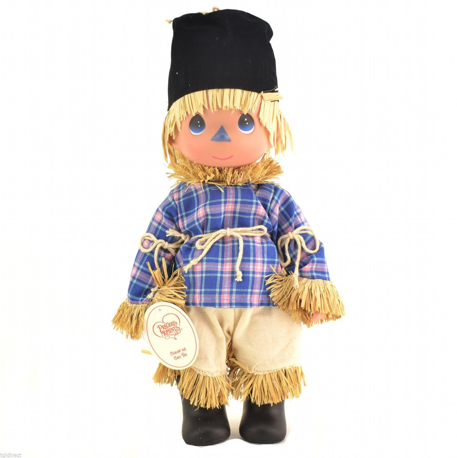 """Precious Moments Doll Wizard Of Oz Scarecrow Clever As Can Be 12"""" Collectible"""