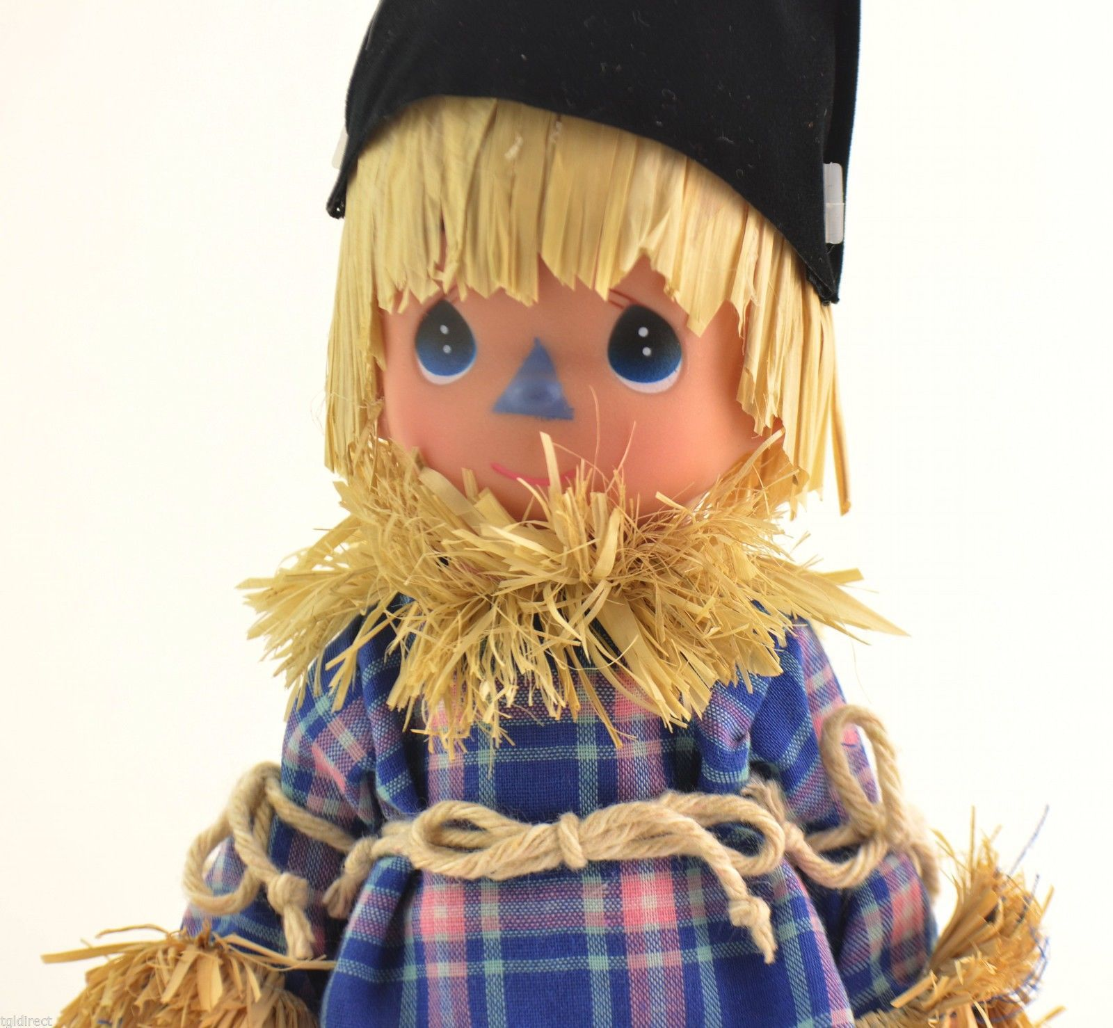 "Precious Moments Doll Wizard Of Oz Scarecrow Clever As Can Be 7"" T Collectible"