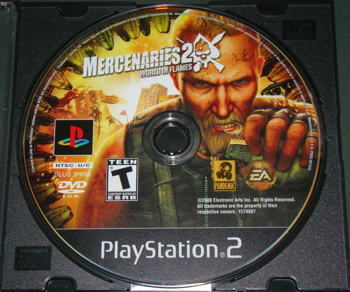 Playstation 2 - EA - MERCENARIES 2 WORLD IN FLAMES (Game Only)