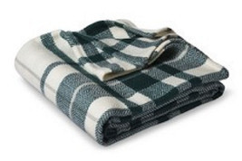 Threshold Throw BLANKET Zenith Teal Cream Plaid Soft Afghan 50x60 Revers... - $406,75 MXN