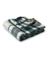 Threshold Throw BLANKET Zenith Teal Cream Plaid Soft Afghan 50x60 Revers... - $28.55 CAD