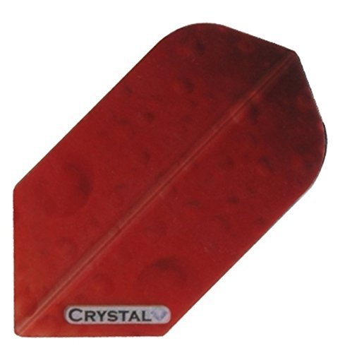 1 set (3 flights) Xtra Strong Crystal Slim Red flights