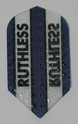 1 set (3 flights) Xtra Strong Ruthless Slim Blue flights - Dimplex Style