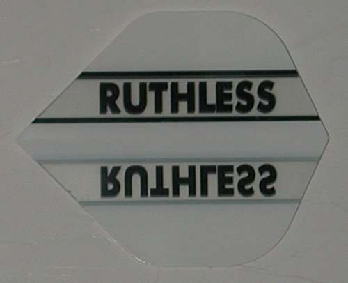 1 set (3 flights) Xtra Strong Ruthless Standard Clear/White flights