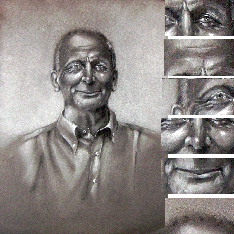Portrait form YOUR PHOTO 40x50 cm drawing colored pencils italy