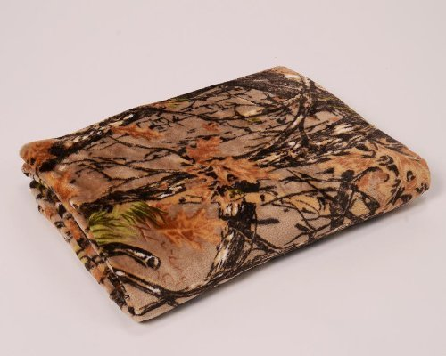 "Ultra Soft Fleece Blanket/throw: Woodland/camouflage Design, Twin Size 60"" X ..."