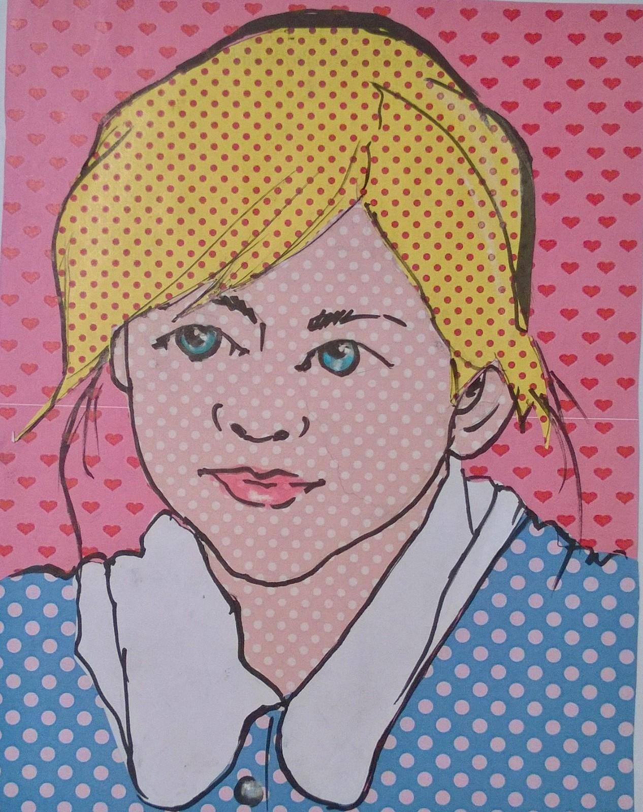 Pop art PORTRAIT from YOUR PHOTO collage handmade Italy 30x40 cm