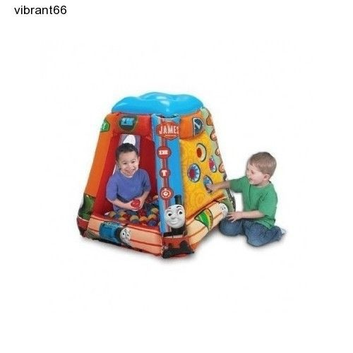 Bouncy Ball Pit Engine Kids Playroom Indoor Playhouse Inflatable Thomas Train