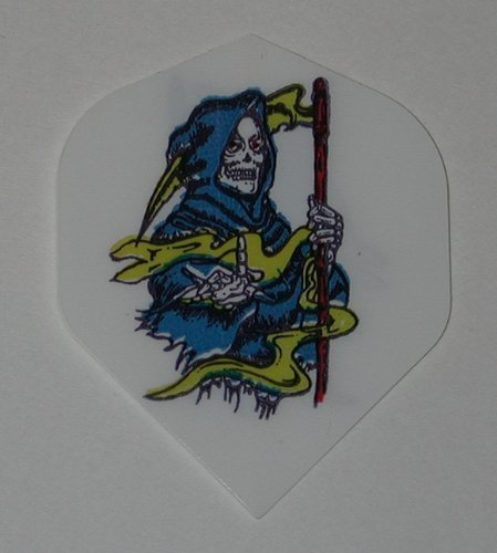 1 set (3 flights)- GRIM REAPER Grateful Dead - Hard Poly flights - M262