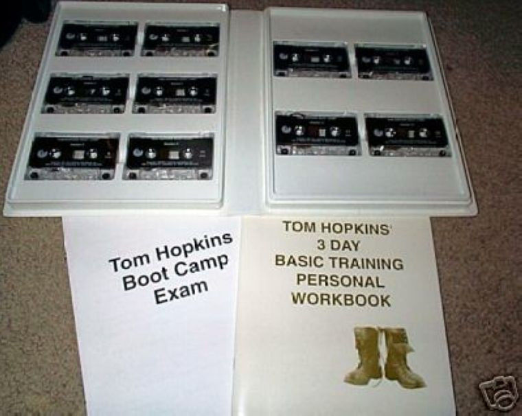 TOM HOPKINS 3-DAY LIVE SALES MASTERY BOOTCAMP ON CLOSING - 10 CDS+10 TAPES  RARE