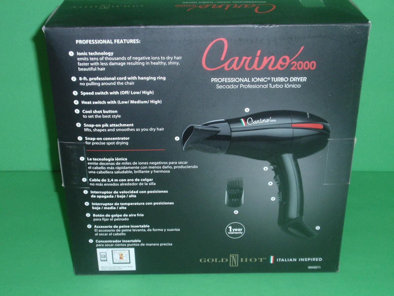 CARINO 2000  PROFESSIONAL IONIC TURBO HAIR DRYER