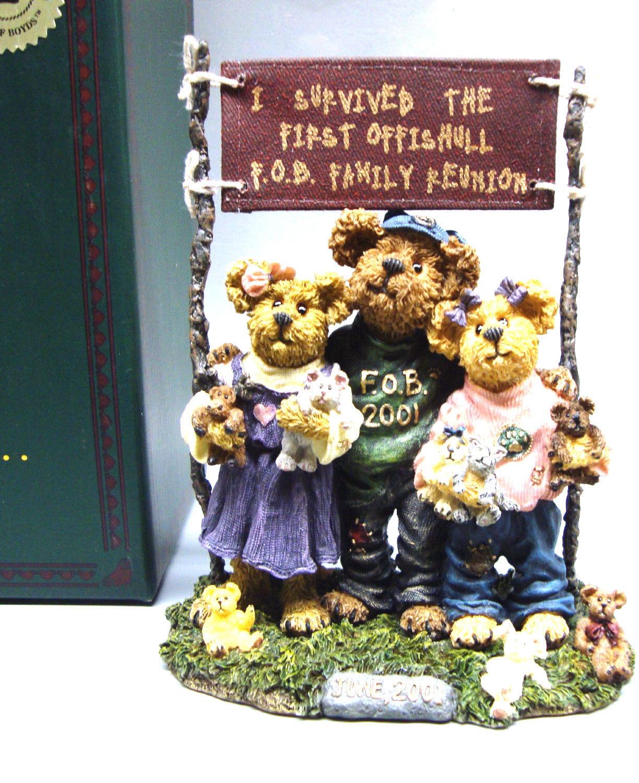 "Boyds Bearstone ""Gary w/ Aneida & Moira""- #02001-91C- FoB 2001- 1st Reunion -NIB"