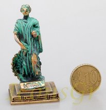 Ancient Greek Zamac Miniature Statue of Hera (Green/gold) [Home] - $12.64