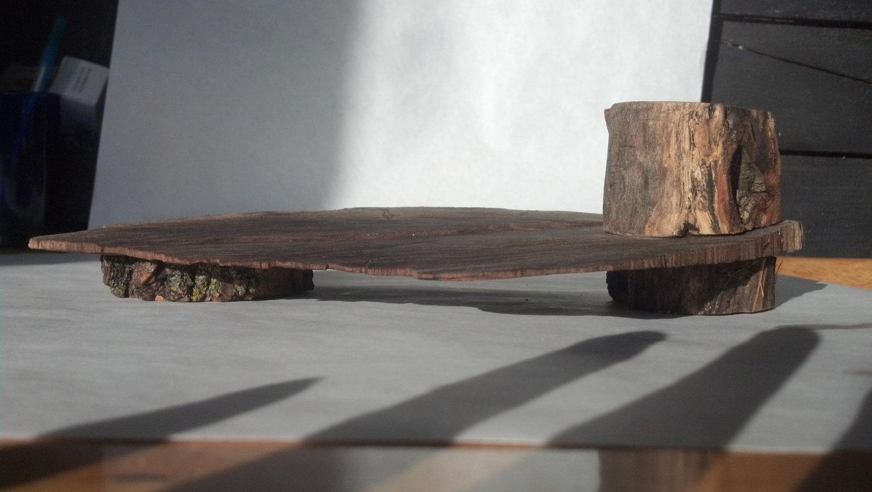 Unique Black Locust and Walnut incense Holder