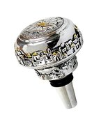 Wine Stopper in Plated Silver with Jerusalem and Floral Design N/A - $19.80