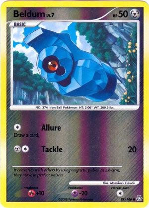 Beldum 84/146 Reverse Holo Common Legends Awakened Pokemon Card
