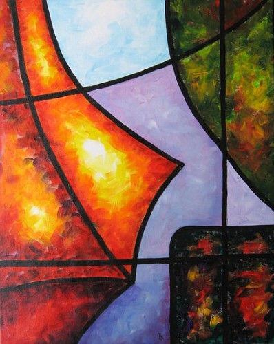 "Akimova: LIGHT 2, abstraction, acrylic, 20""x16"""
