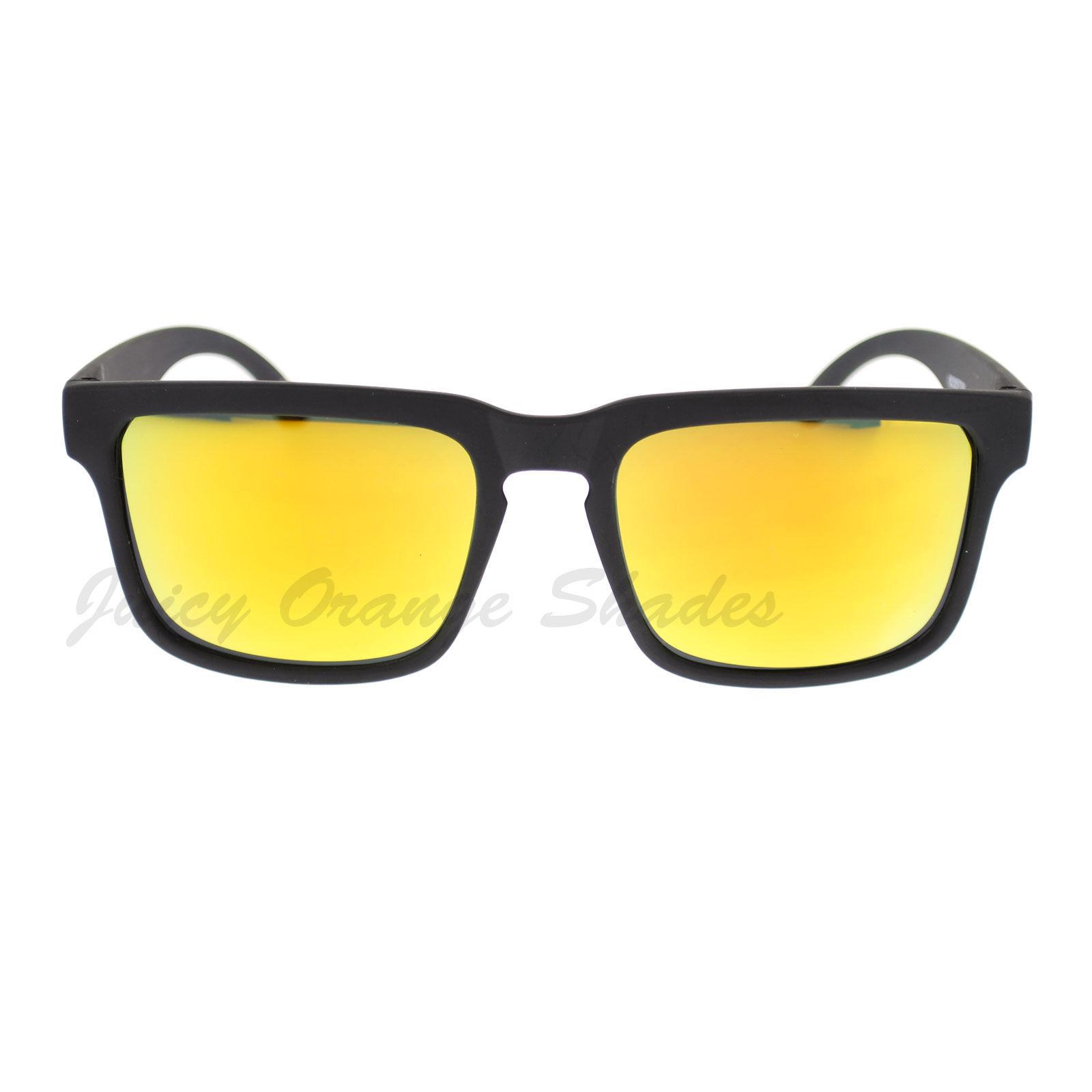 Soft Matted Square Rectangular Frame Sunglasses Multicolor Mirror Lens