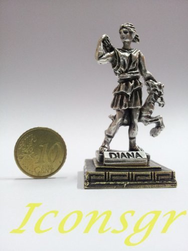 Ancient Greek Zamac Miniature Statue of Diana (1558-silver) [Home]