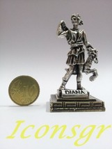 Ancient Greek Zamac Miniature Statue of Diana (1558-silver) [Home] - $12.64