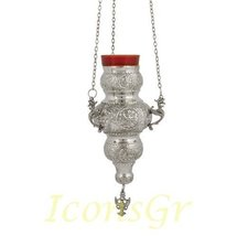 Greek Christian Orthodox Bronze Oil Lamp with Chain - 409n [Kitchen] - $159.84