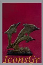 Ancient Greek Bronze Museum Replica of Dolphins (1268) [Kitchen] - $58.60