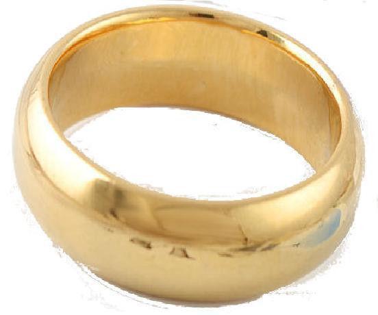 14K Yellow Gold Filled Women/Men Plain Band Ring  Size 9 - 6mm